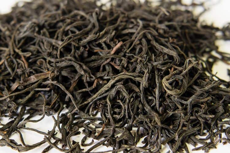 Lapsang Souchong black tea leaves from China