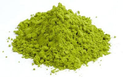 Green tea powder matcha from Japan