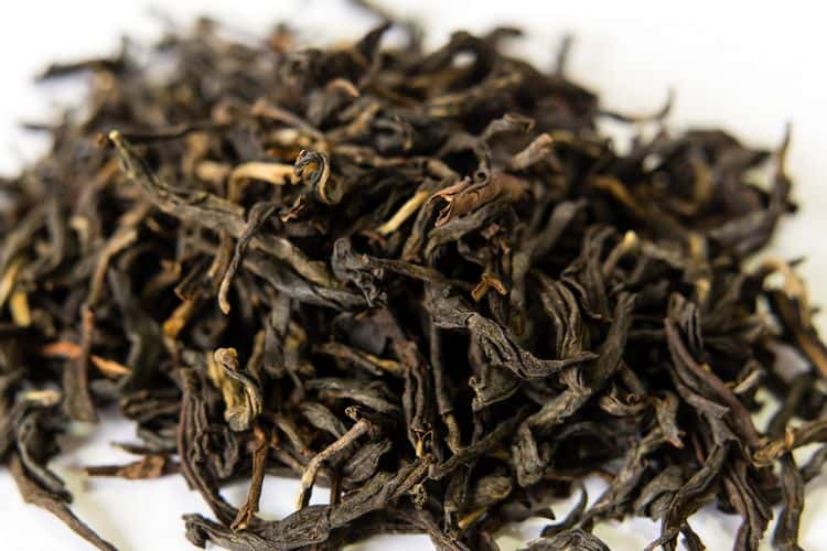 Keemun black tea leaves from China