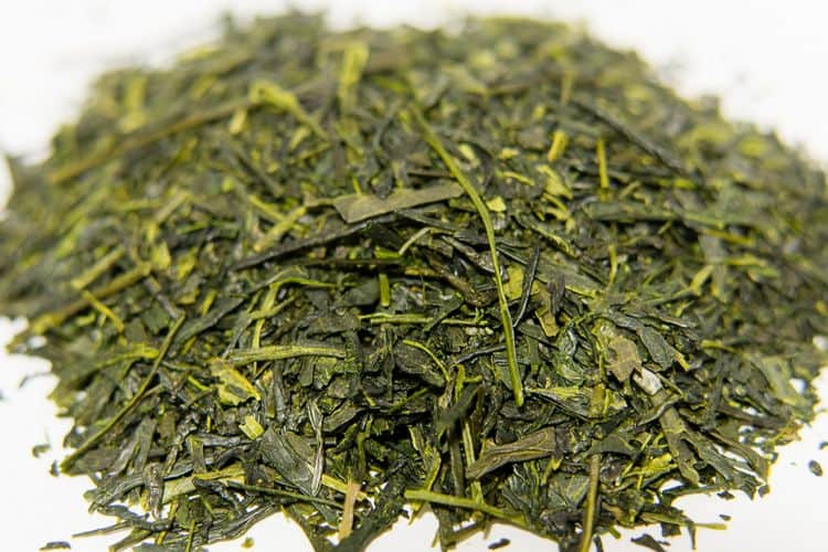 Japanese Sencha loose leaf tea leaves