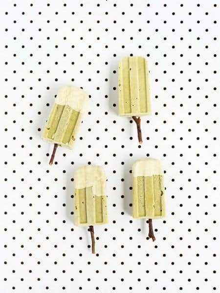 Matcha Avocado Popsicle Recipe