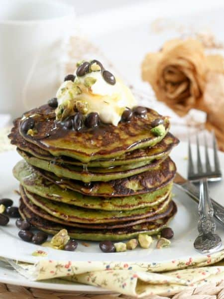 recipe for matcha coconut pancakes