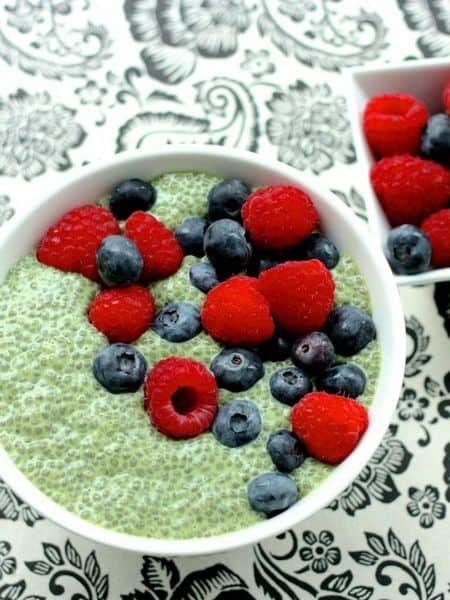 green tea chia pudding recipe