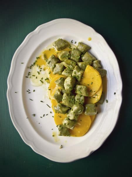 Recipe for gnocchi with matcha