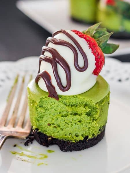 matcha mini cheesecake recipe