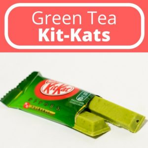 Green tea kit kat made with matcha and gyokuro leaves