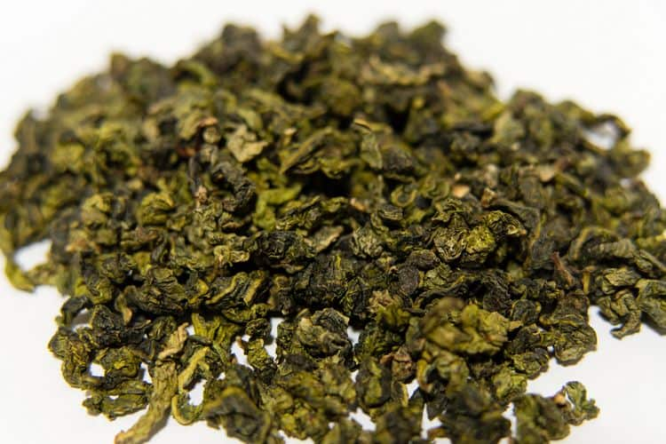 Tieguanyin oolong tea leaves