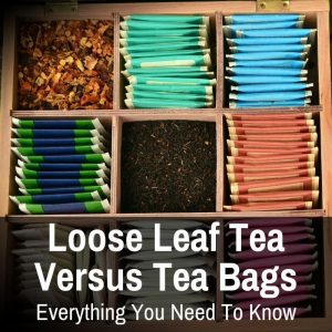 tea bags and loose leaf tea