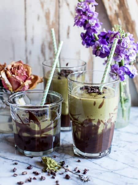 Matcha Chocolate Lava Shake Recipe