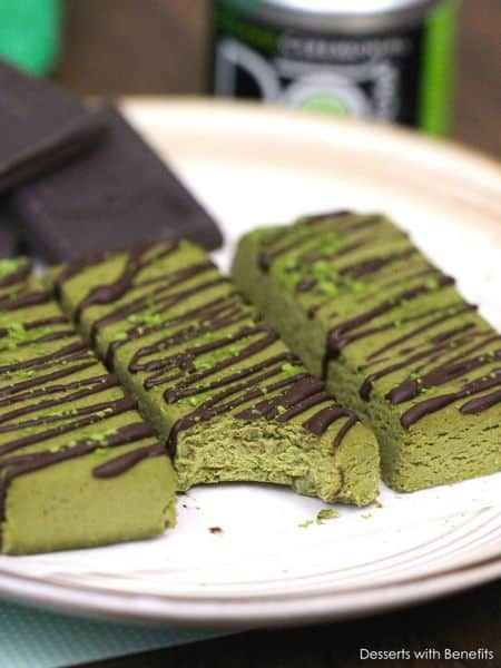 matcha fudge protein bar recipe
