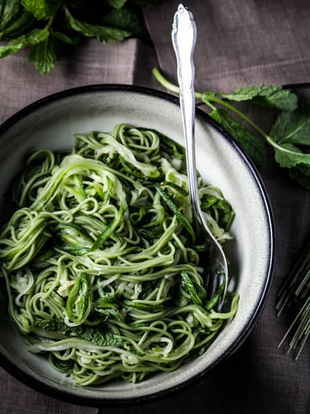 green tea zucchini noodle recipe