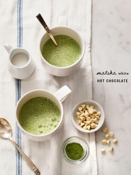 Matcha Hot White Chocolate