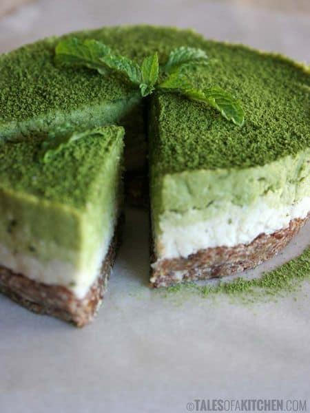 Mint matcha coconut cake