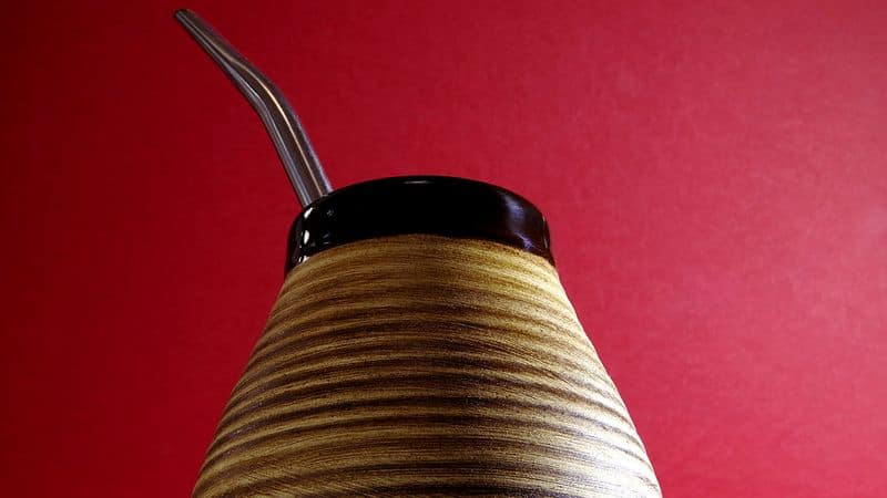 mate gourd from low angle