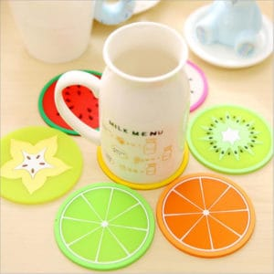Silicone Fruit Coasters