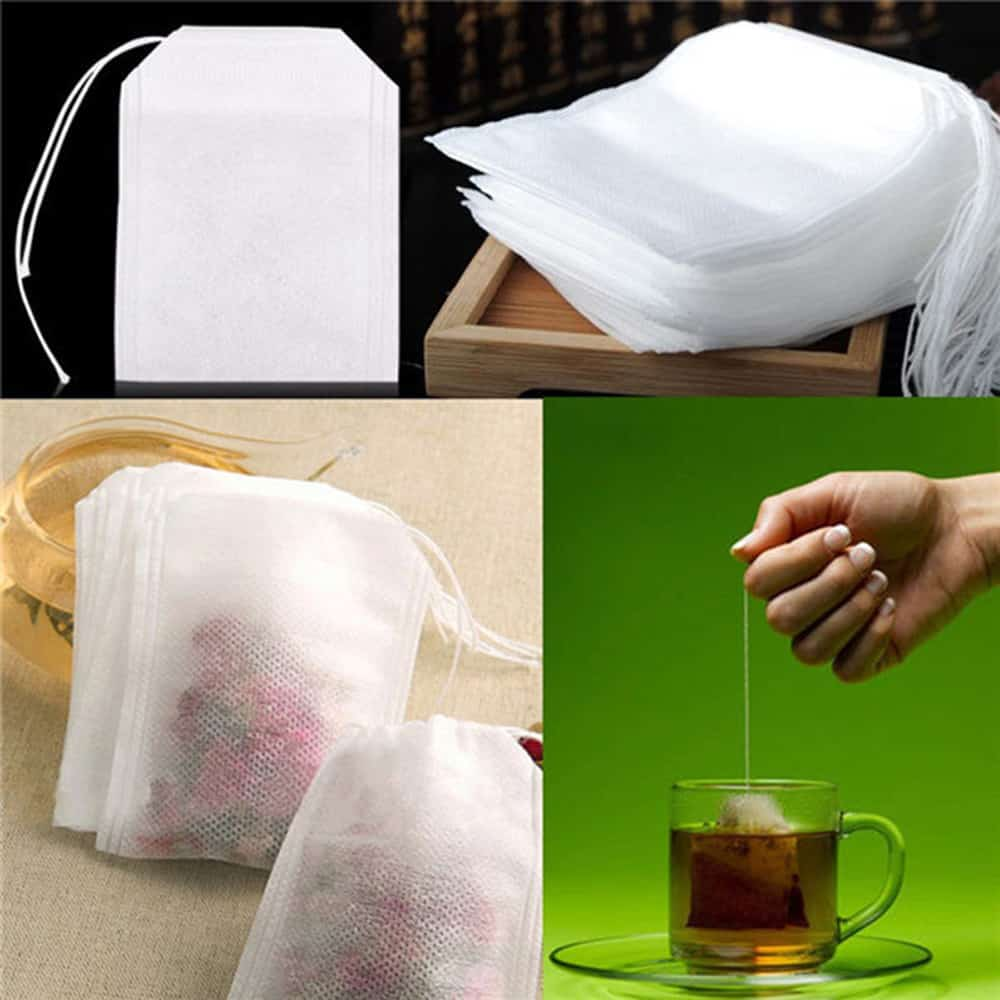 Empty Tea Bags With String Seal For Loose