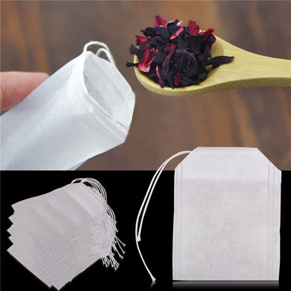 Empty Tea Bags With String Seal For Loose Pack Of 100