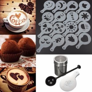 Chocolate Shaker/Duster And Cappuccino/Coffee Stencils