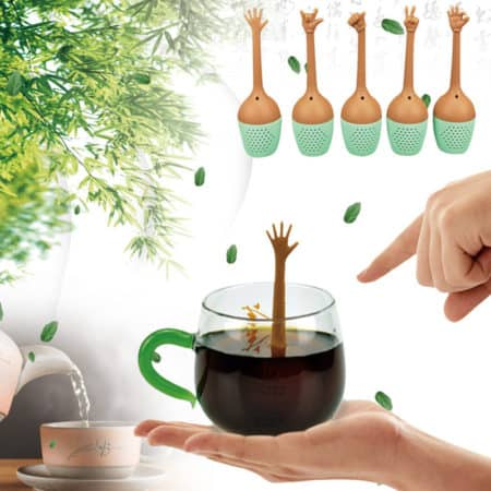 Funny Hand Gesture Tea Filter