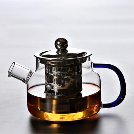 Heat-Resistant Glass Teapot And Kettle With Strainer