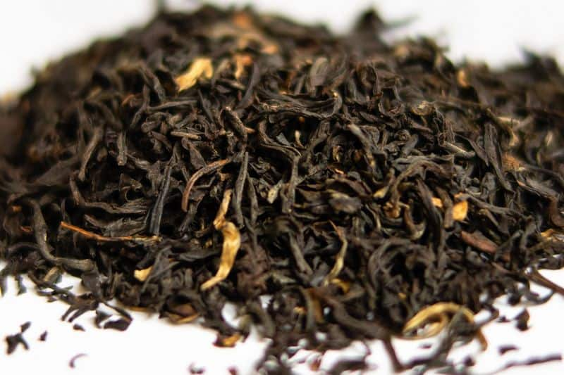 black tea leaves from Assam