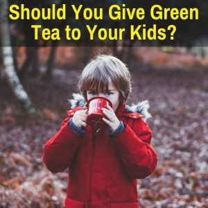 A child drinking green tea