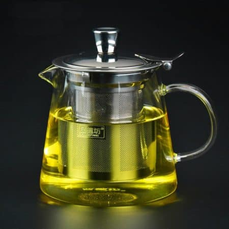 Pindefang glass teapot with steel infuser