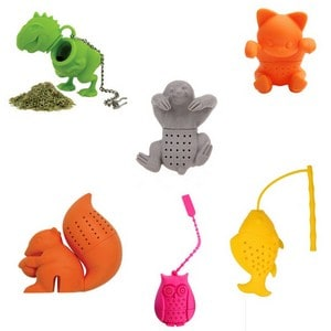 novelty plastic tea strainers