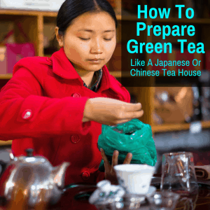 Brewing green tea