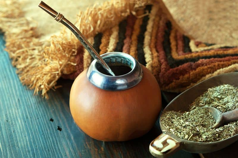 gourd and straw for making yerba mate