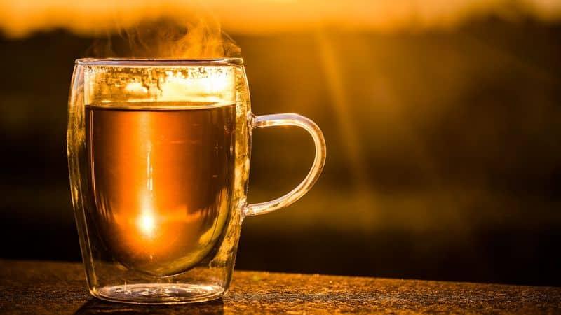 hot cup of black tea