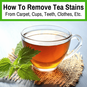 get rid of tea stains