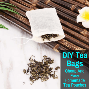 A homemade tea bag