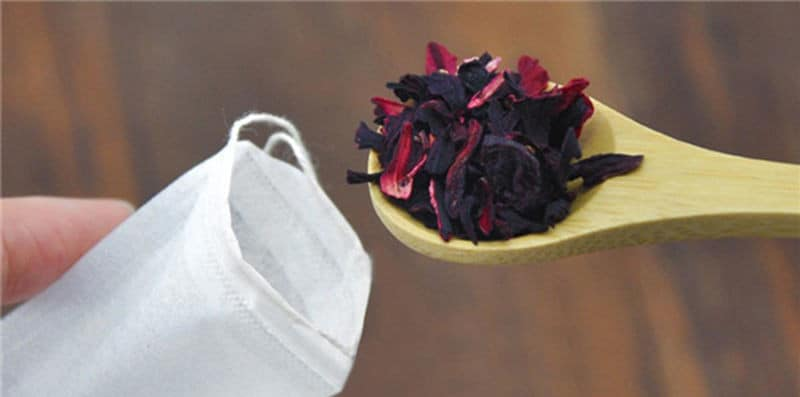 Filling a ready made tea bag