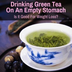 Cup of green tea not empty