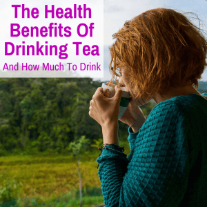 Woman drinking a healthy cup of tea