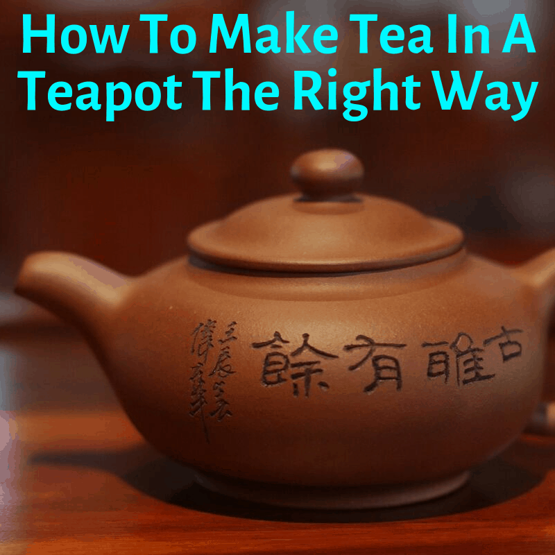 Making tea in a teapot