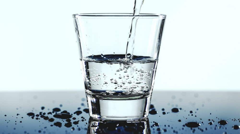 Glass of water for hydration