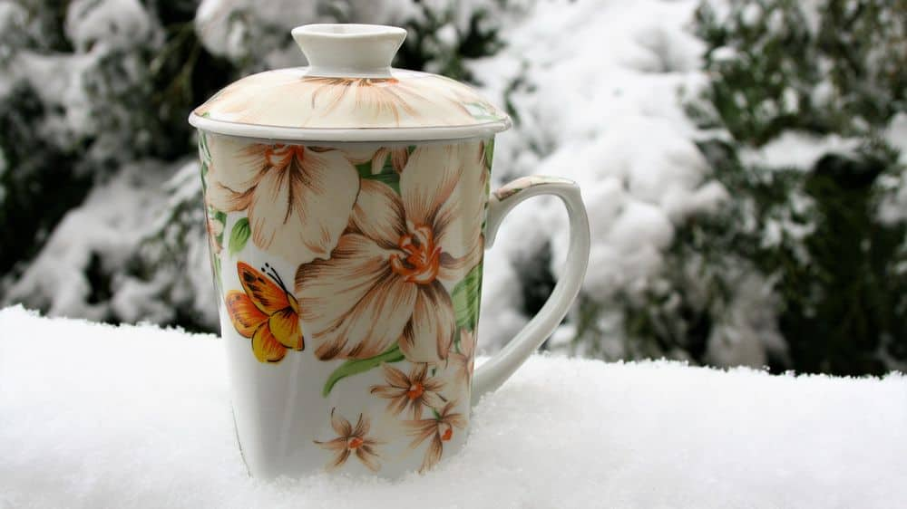 Tea during snowy weather