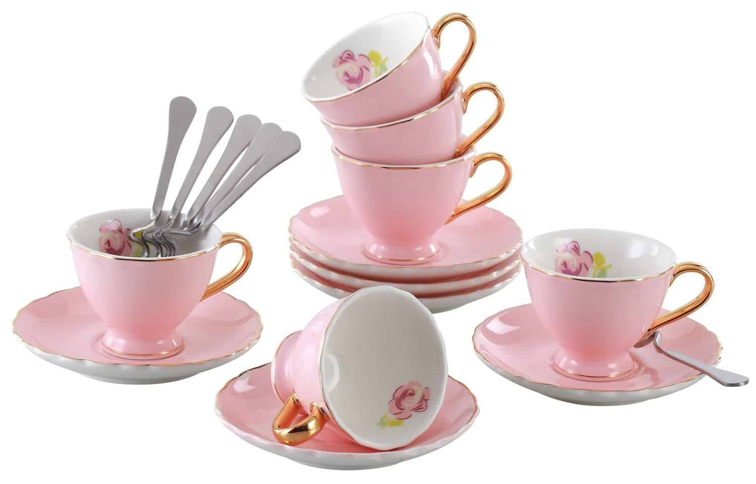 Jusalpha porcelain tea cup set