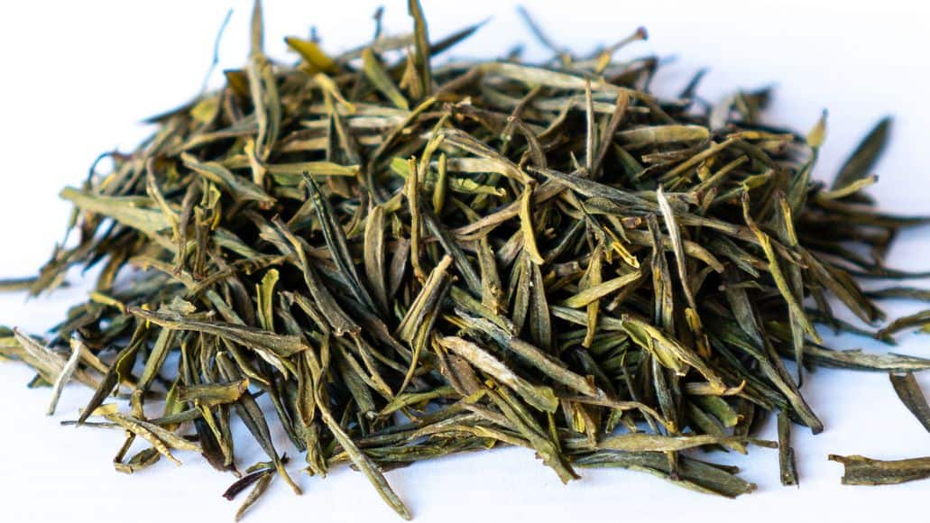 yellow tea leaves
