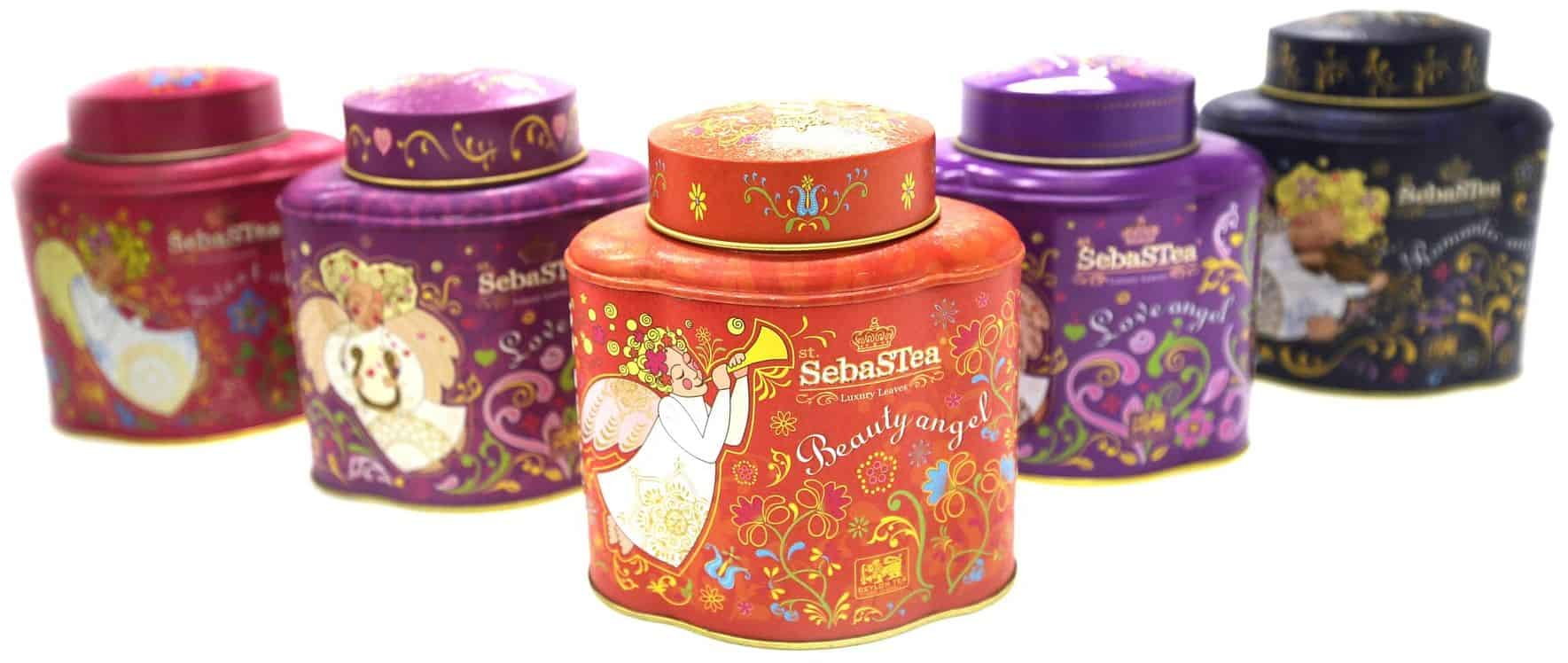 Decorative tea storage containers
