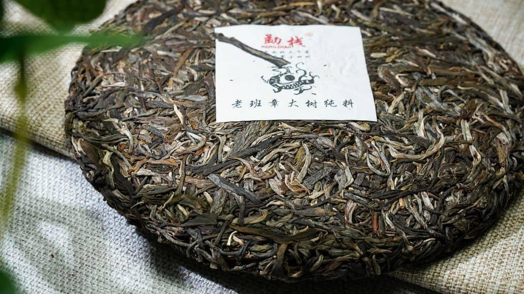disc of puerh tea